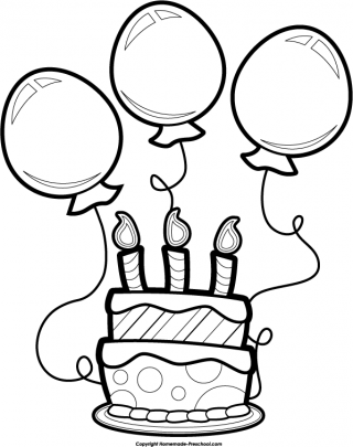 Cake  black and white happy birthday cake clipart black and white