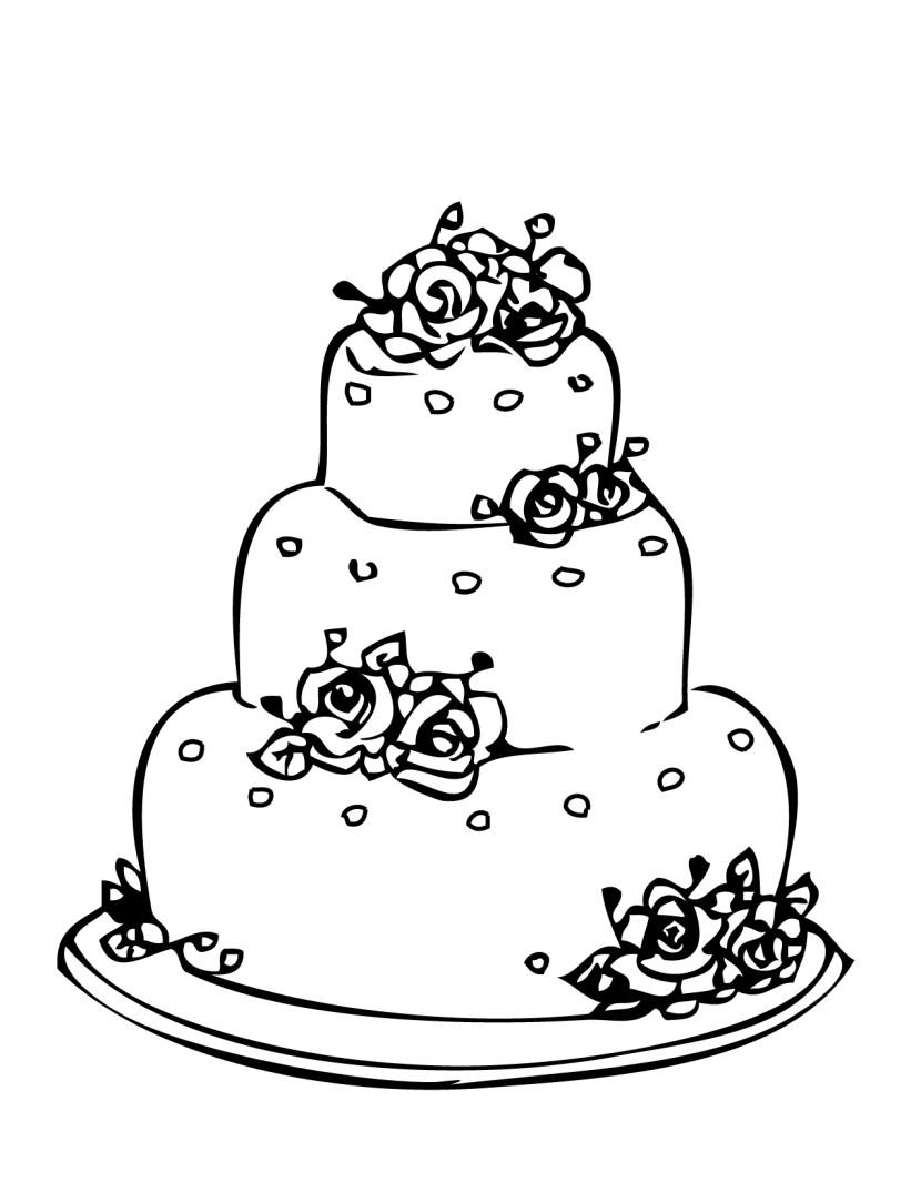Cake  black and white simple wedding cake clipart black and white clipartfest