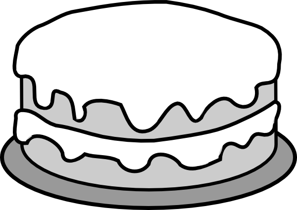 Cake  black and white slice of cake clipart black and white free 2