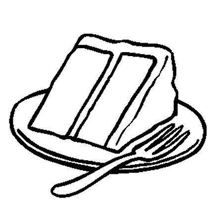 Cake  black and white slice of cake clipart