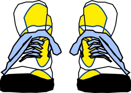 Cartoon tennis shoe clipart 2