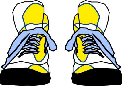 Cartoon tennis shoe clipart 2