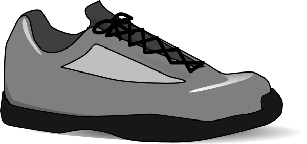 Cartoon tennis shoe clipart