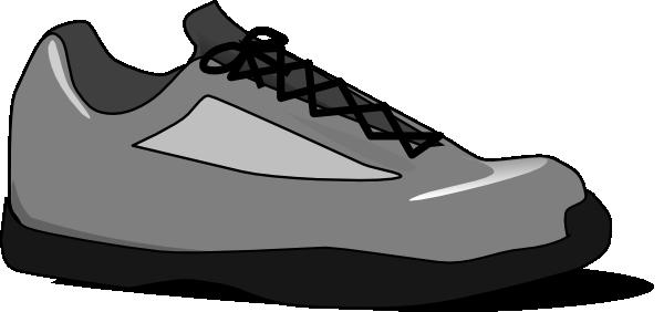 Cartoon tennis shoe clipart