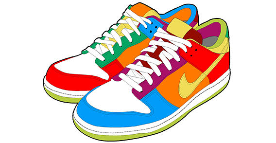 Clip art tennis shoes clipart 2
