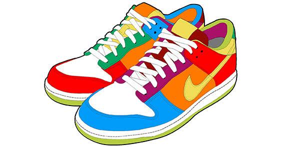 Clip art tennis shoes clipart 2