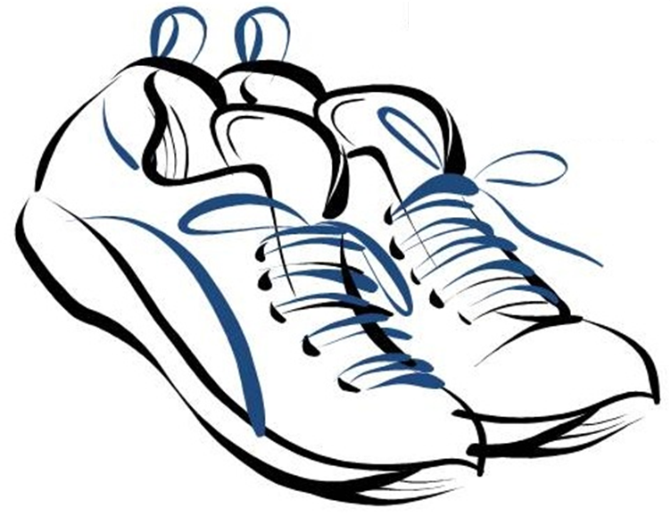 Clip art tennis shoes clipart 4