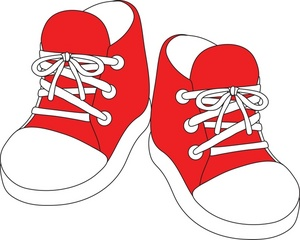Clip art tennis shoes clipart 5