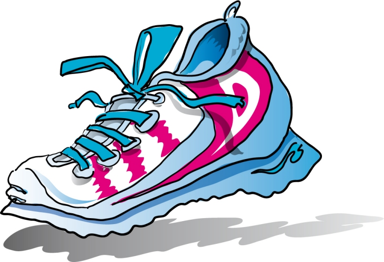 Clip art tennis shoes clipart 6
