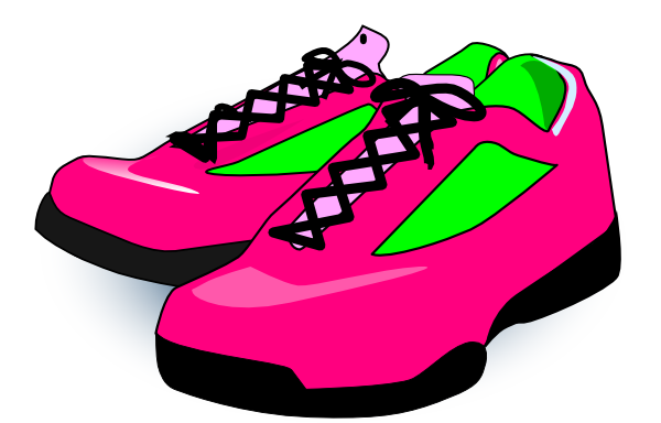 Clip art tennis shoes clipart 7