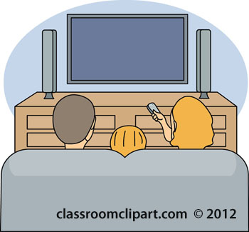 Clipart family watching tv clipartfest 2
