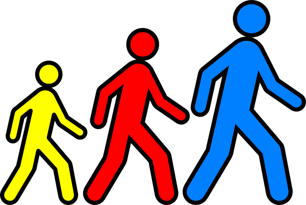 Clipart walking feet bay