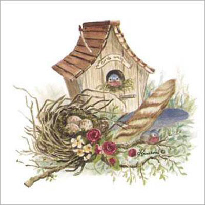 Country birdhouse clipart