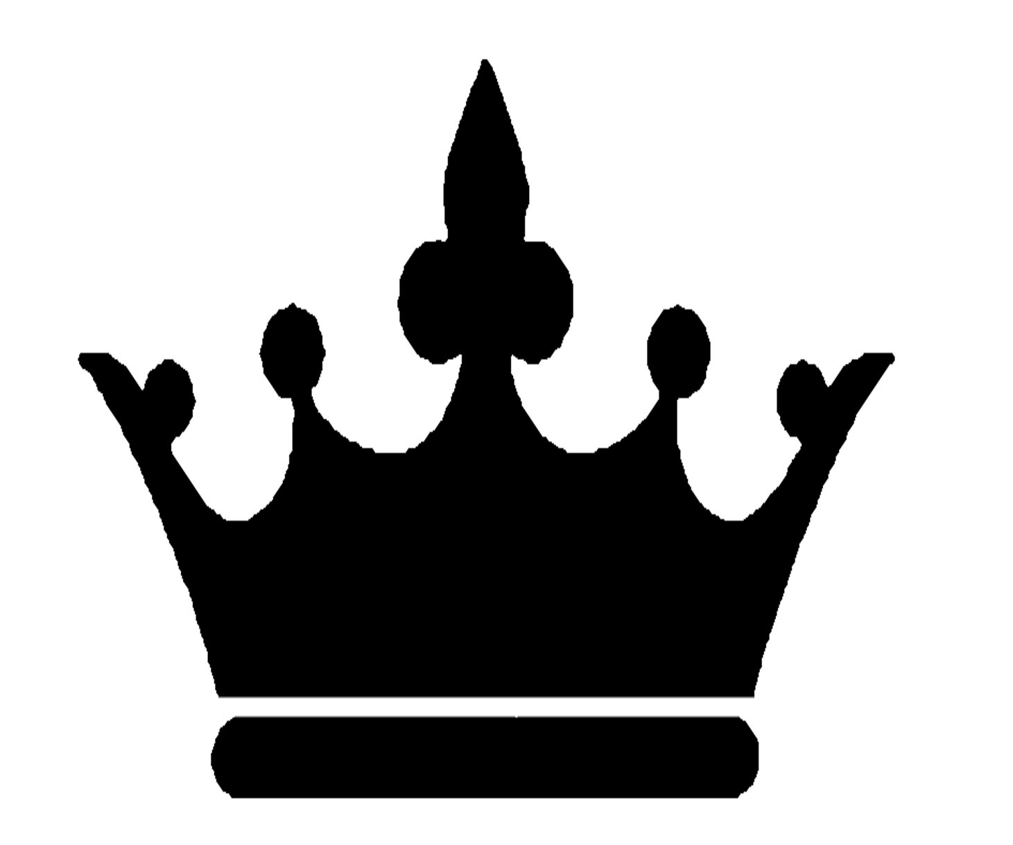 Crown  black and white crown clipart