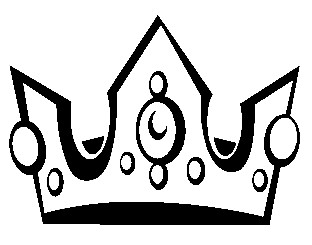 Crown  black and white pageant crown black and white clipart 2