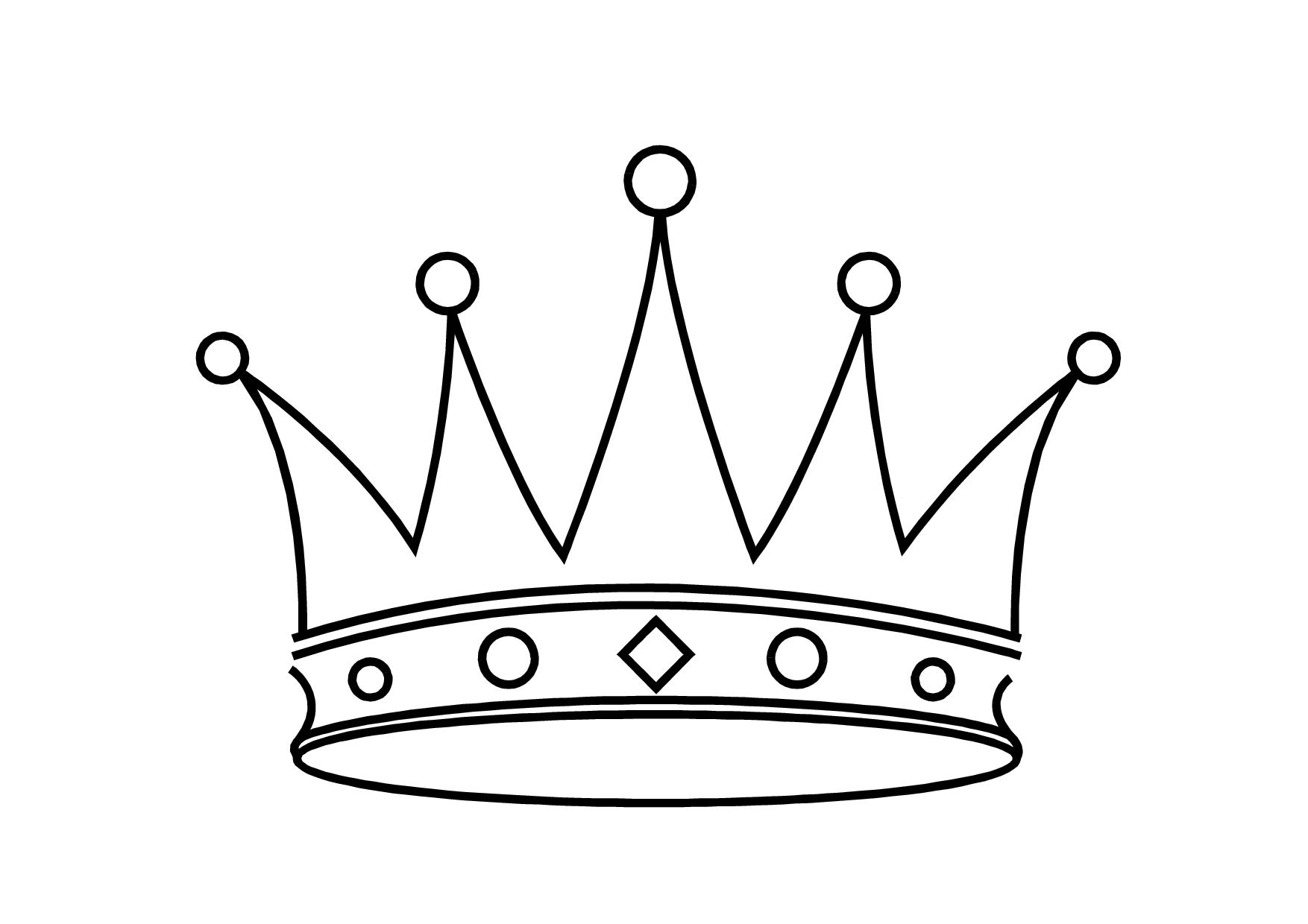 Crown  black and white princess black and white clipart