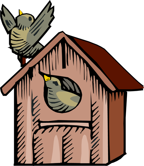 Cute birdhouse clipart free images 2