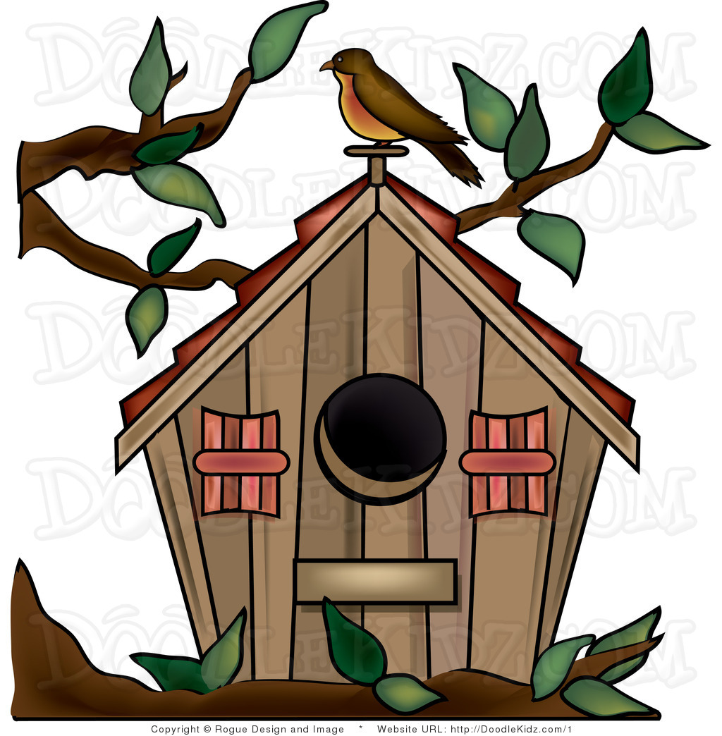 Cute birdhouse clipart free images 3