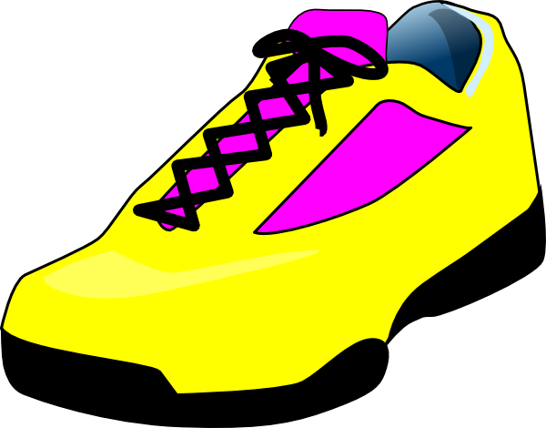 Elegant tennis shoes clipart the cliparts