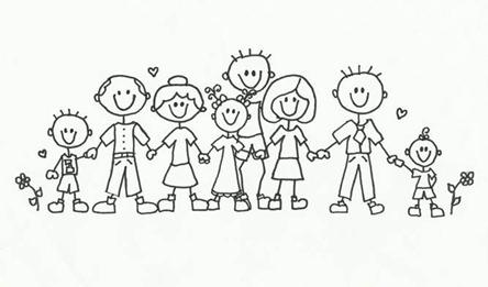 Family  black and white black and white family clipart clipartfest 2
