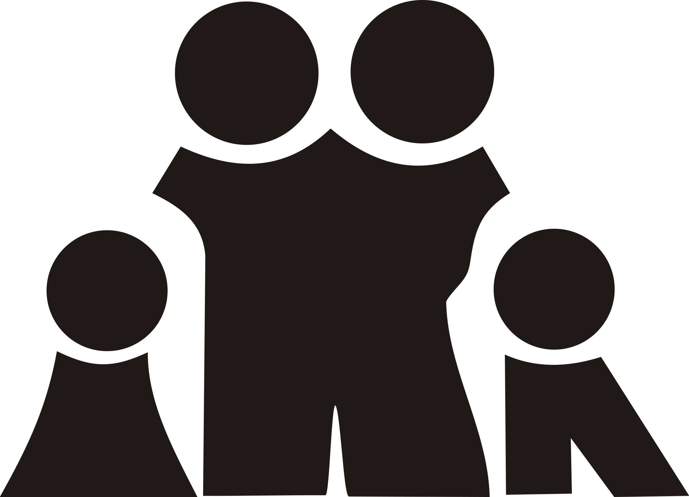 Family  black and white clipart family