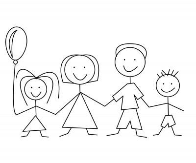 Family  black and white family clipart black and white clipartfest 3