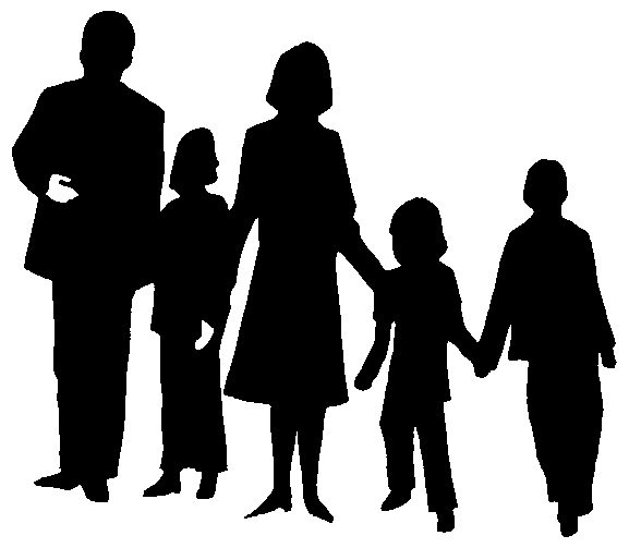 Family  black and white image of family clipart black and white clip art