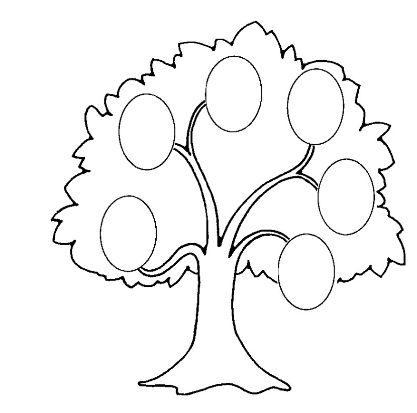 Family  black and white tree clipart black and white