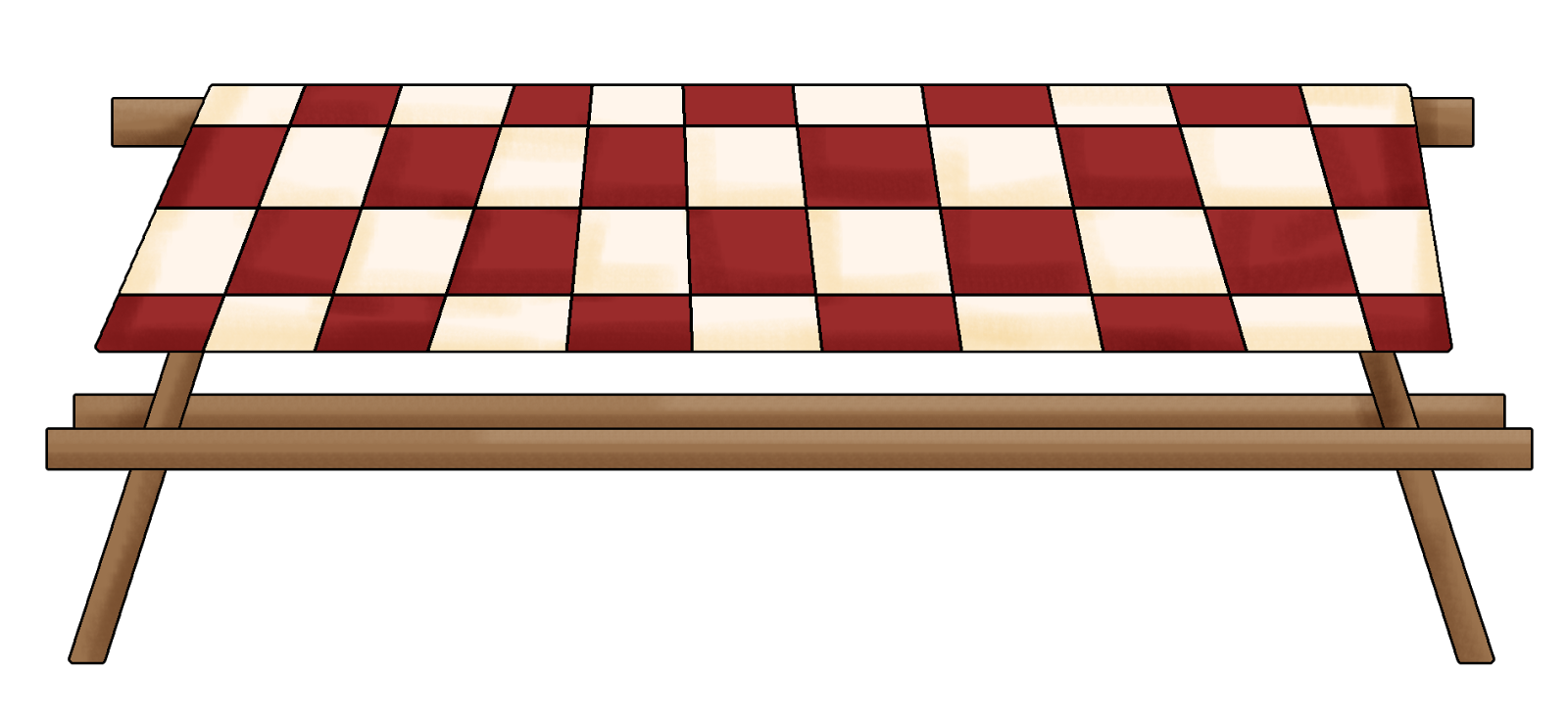 Family picnic table clipart free images 2