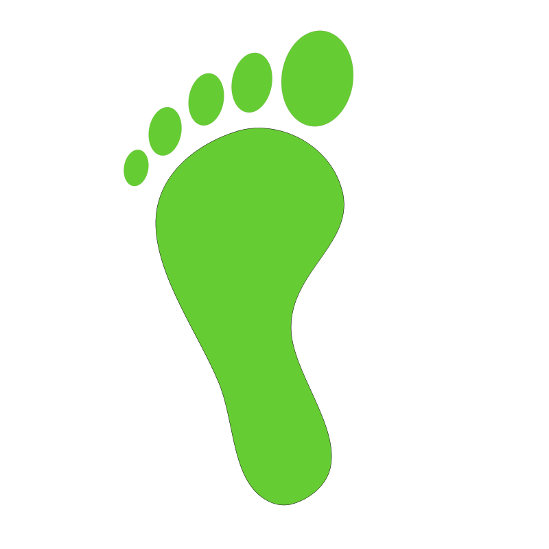 Foot walking feet clip art 3 image