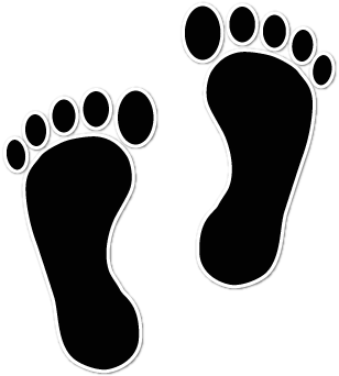 Foot walking feet clip art image 2