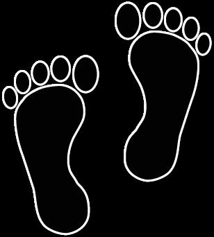 Foot walking feet clip art image 2