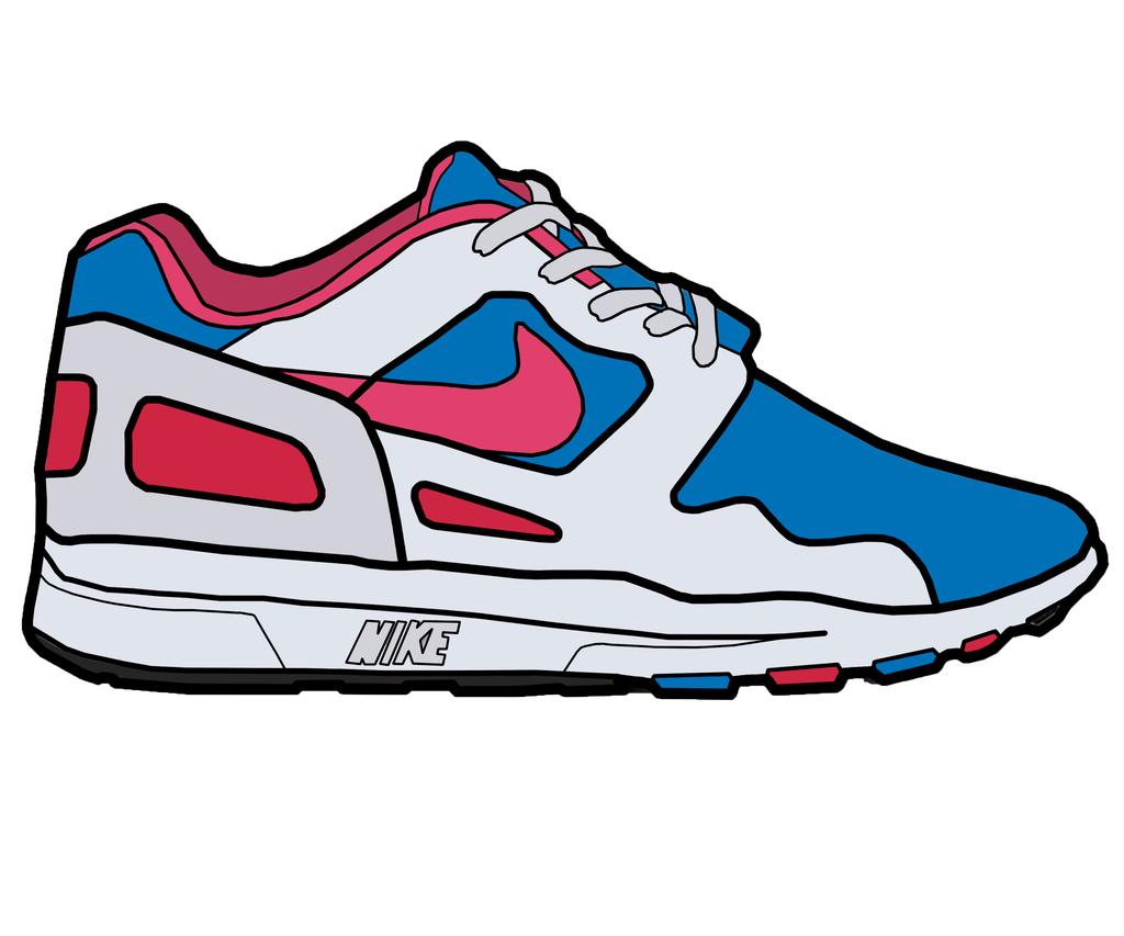 Free clip art tennis shoe clipart image