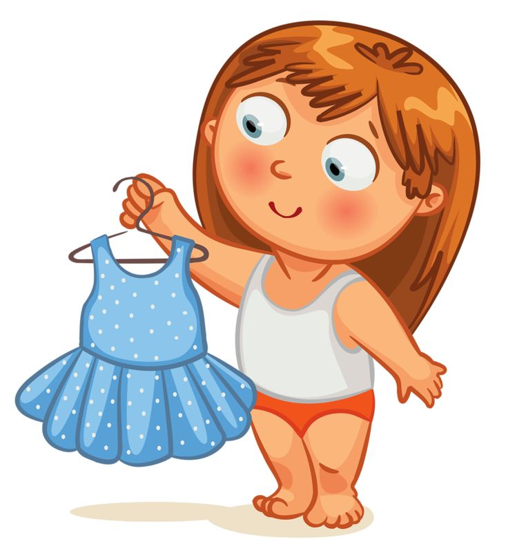 Getting dressed art kids clip art and kid on