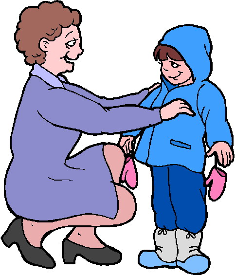 Getting dressed clip art 7