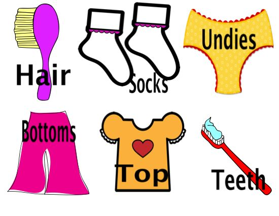 Getting dressed get dressed clipart