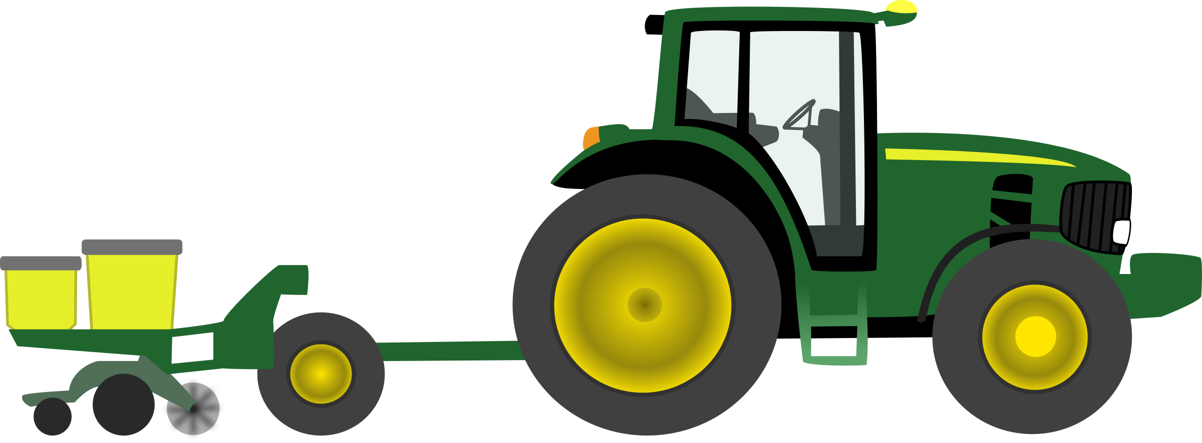 Green Tractor Clip Art John Deere Free Cliparts Wikiclipart