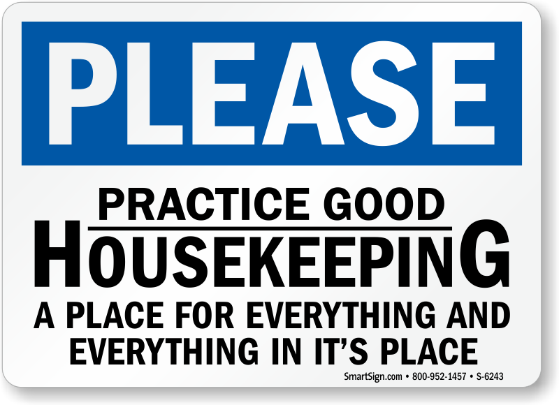 Housekeeping signs free shipping from mysafetysign clip art