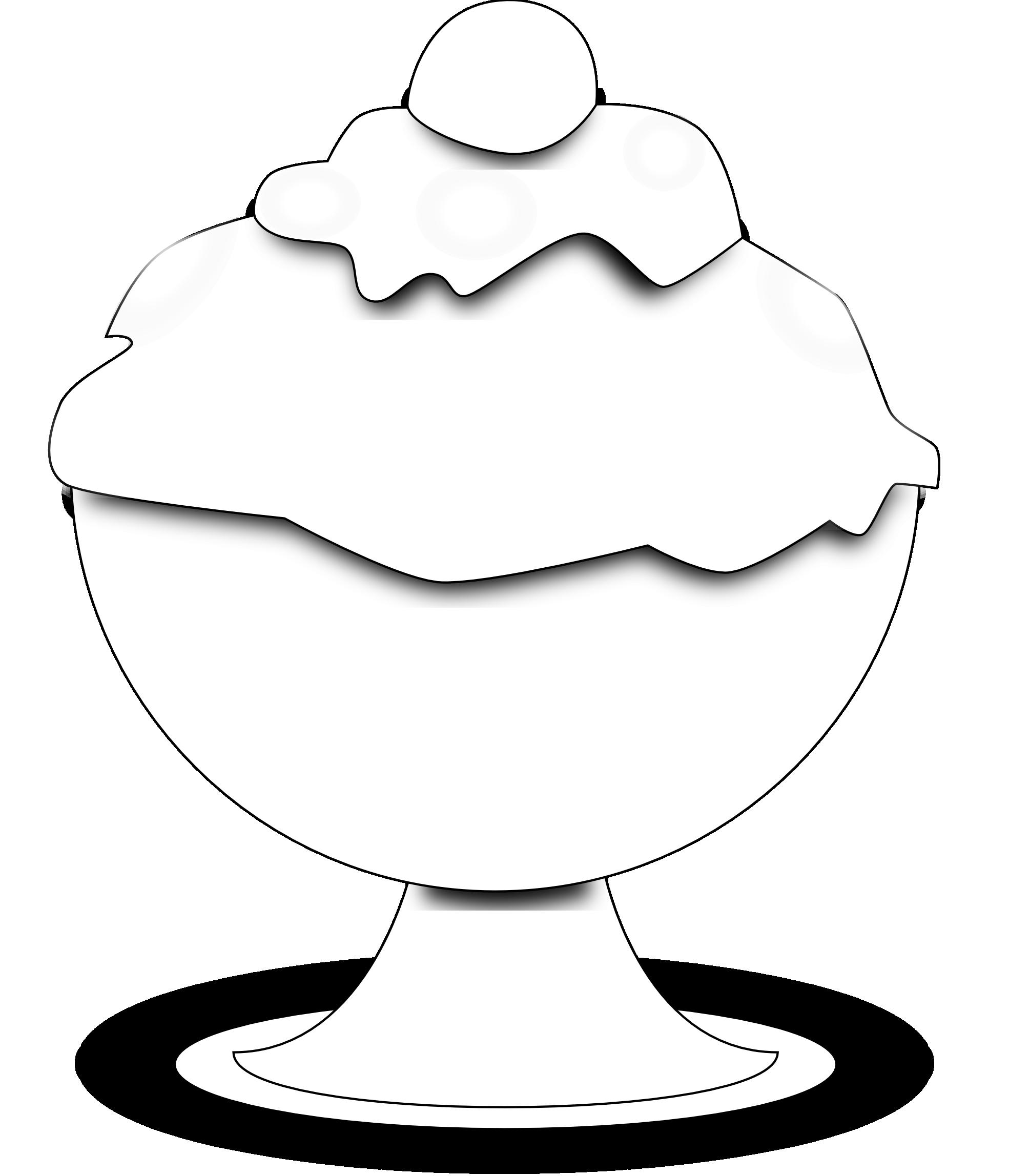 Ice cream  black and white ice cream clipart black and white free 6