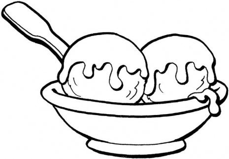 Ice cream  black and white ice cream sundae clipart
