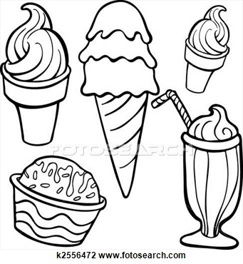 Ice cream  black and white photos of ice cream cup drawing bowl clip art