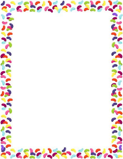 Jelly bean border clipart