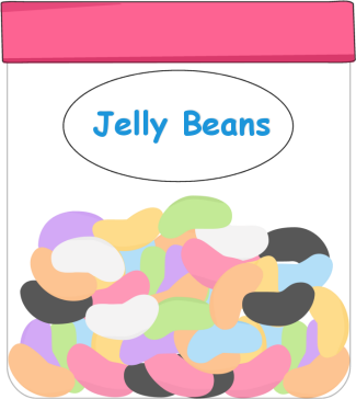 Jelly bean jar clipart 6