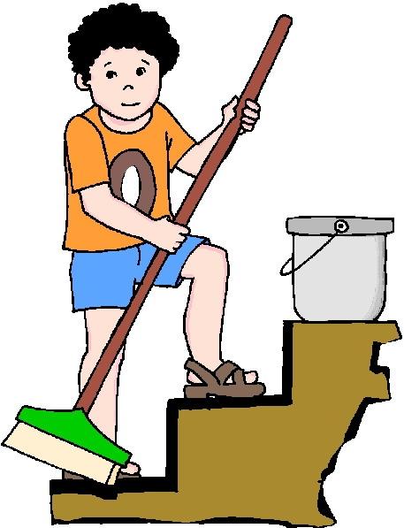 Kids housekeeping clipart 3