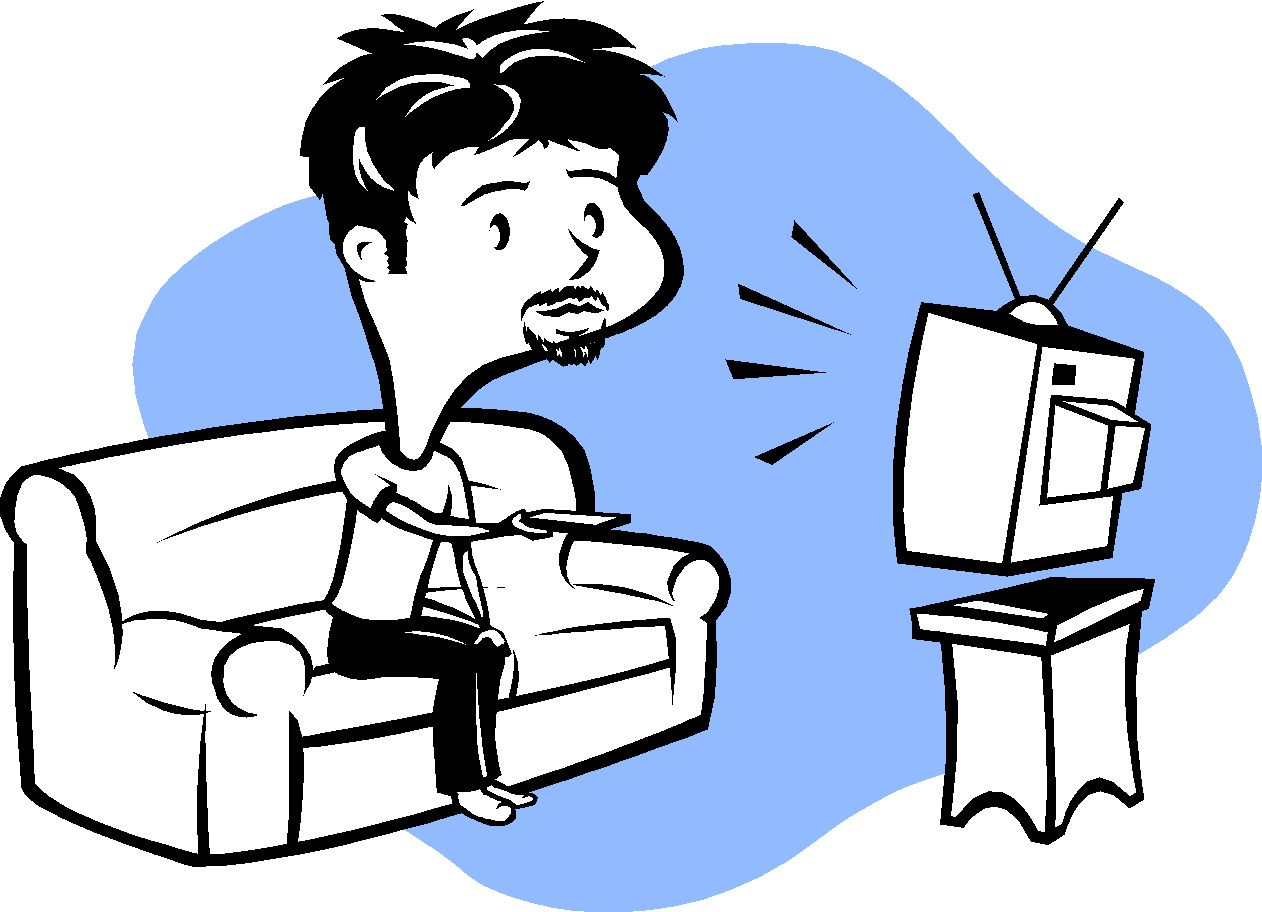Kids watching tv clipart free images 2