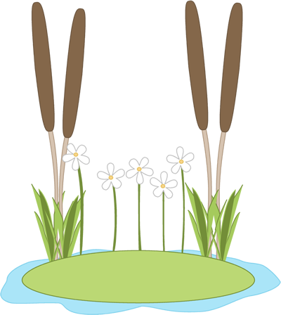 Lily pond clipart
