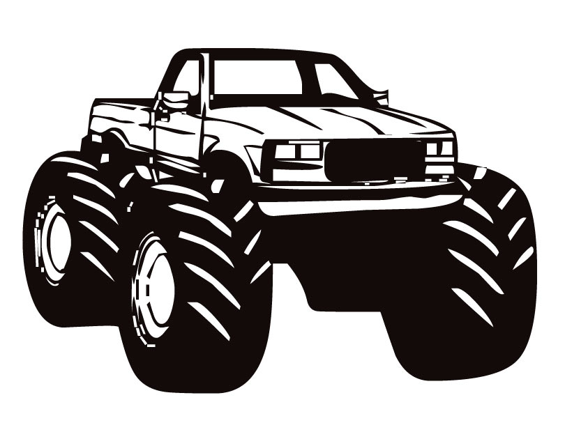 Monster truck fast clipart free images image