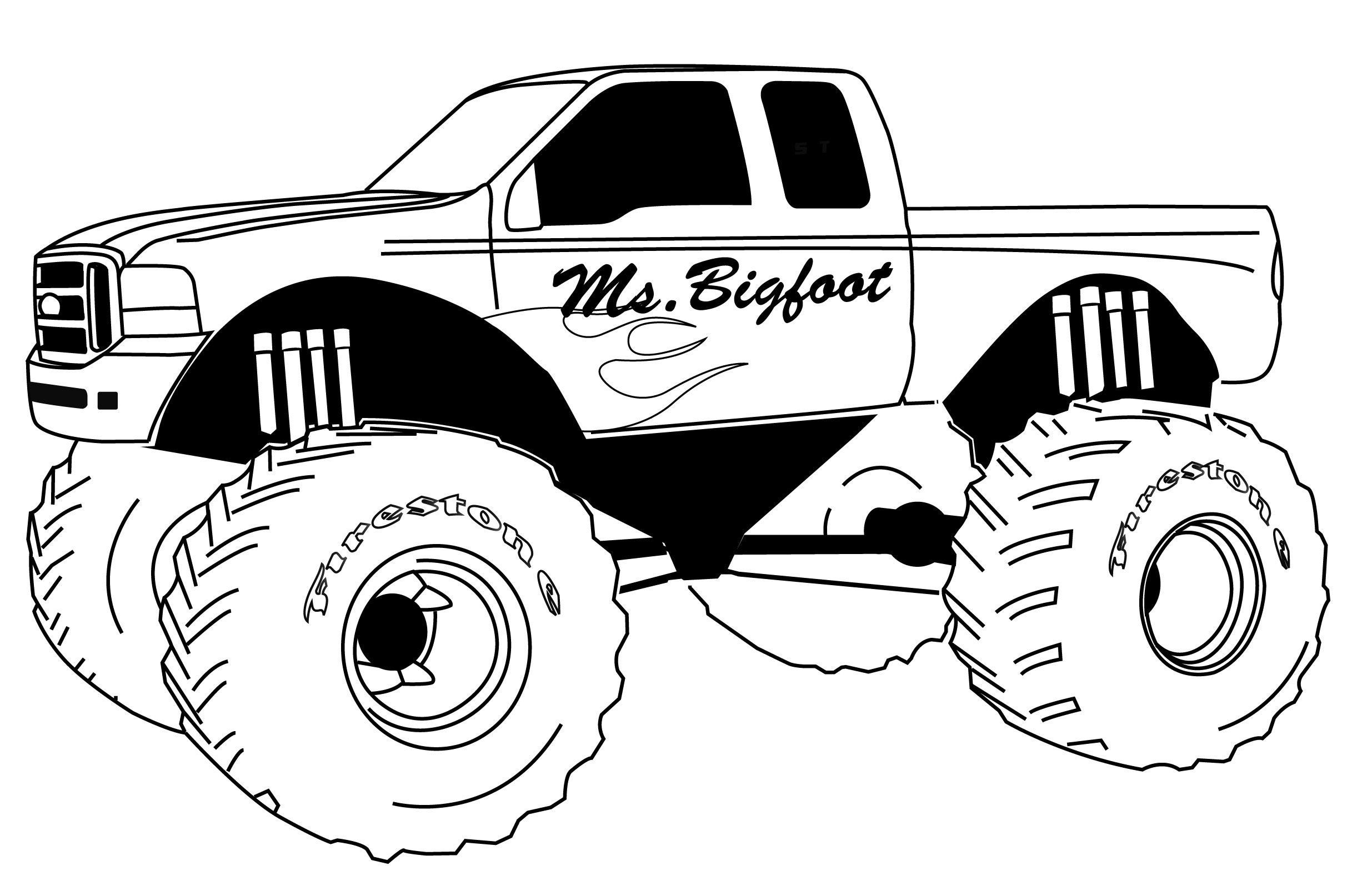 Monster truck grave digger clipart clipartfest 6