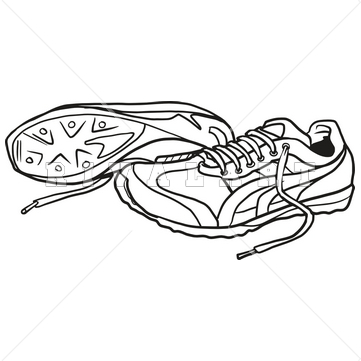 Nike tennis shoe clipart