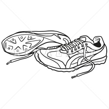 Nike tennis shoe clipart
